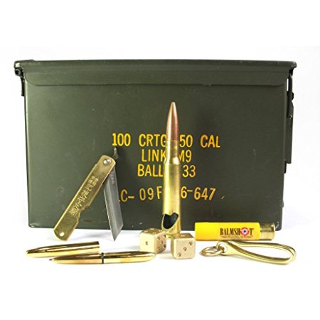 Acme Crate Brass EDC 50mm Ammo Can Gift Set thumbnail