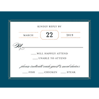 Personalized Wedding RSVP - Elegant Lines - 4.25 x 5.5 Flat