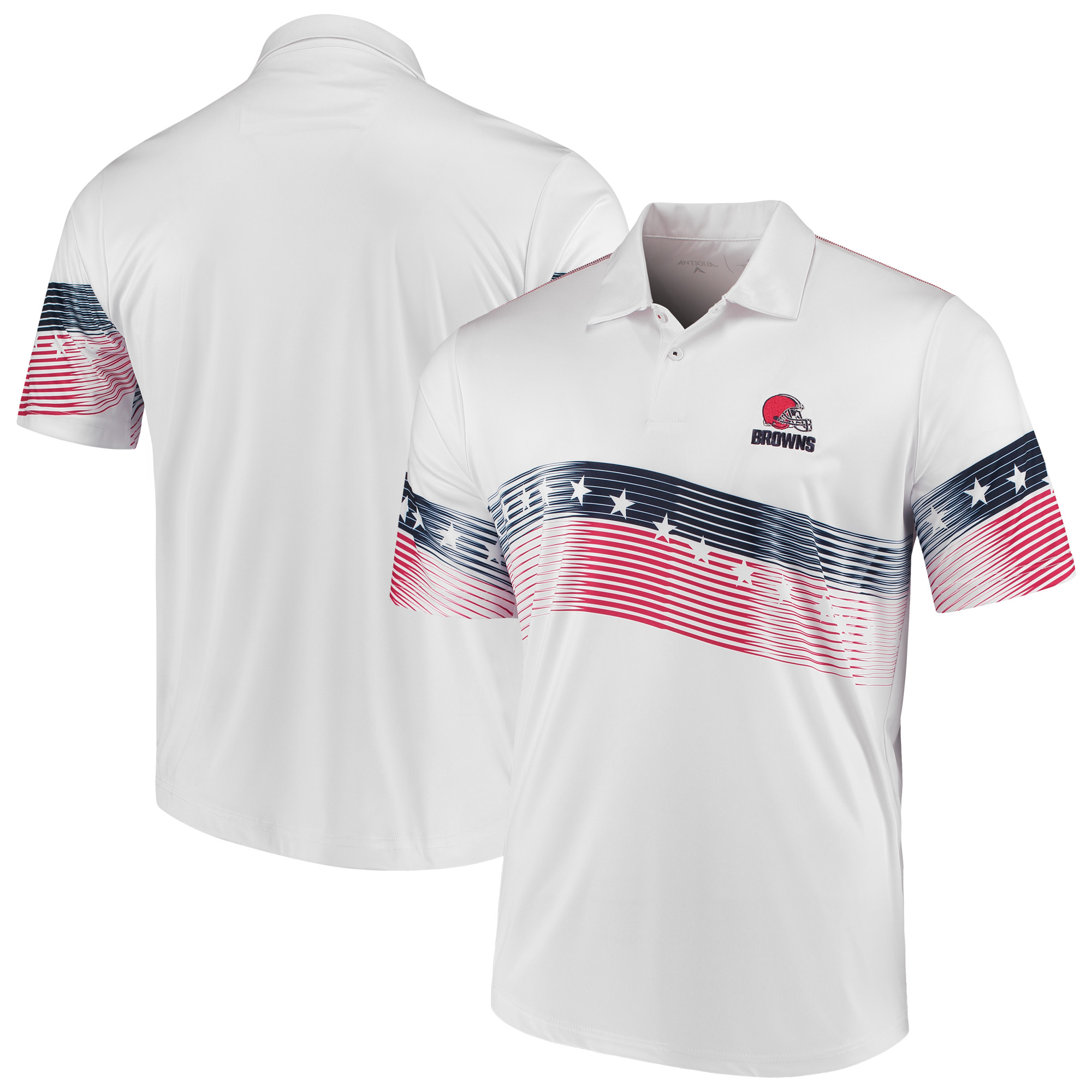 Cleveland Browns Antigua Patriot Polo - White