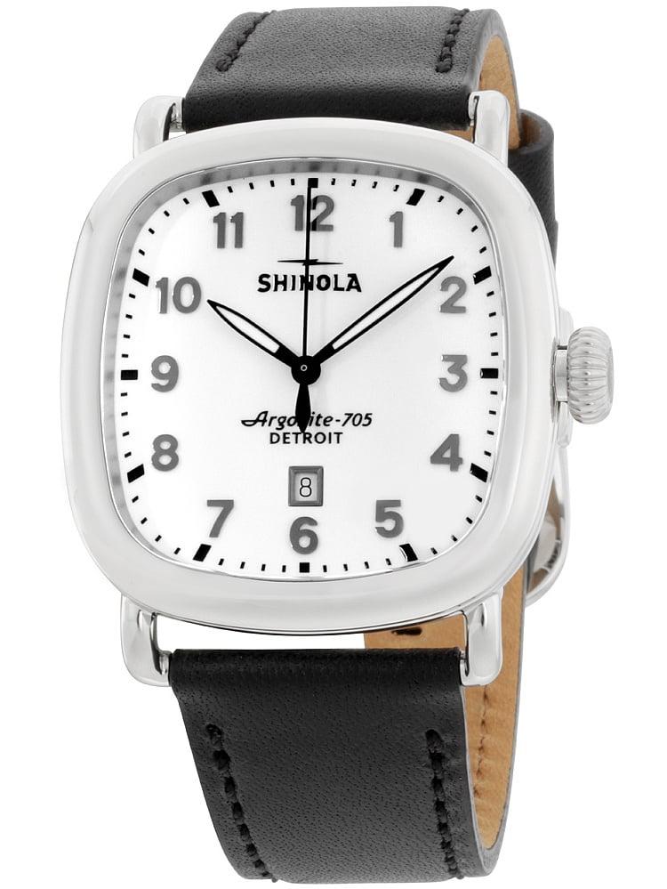 Shinola The Guardian White Dial Leather Strap Men's Watch 20029584