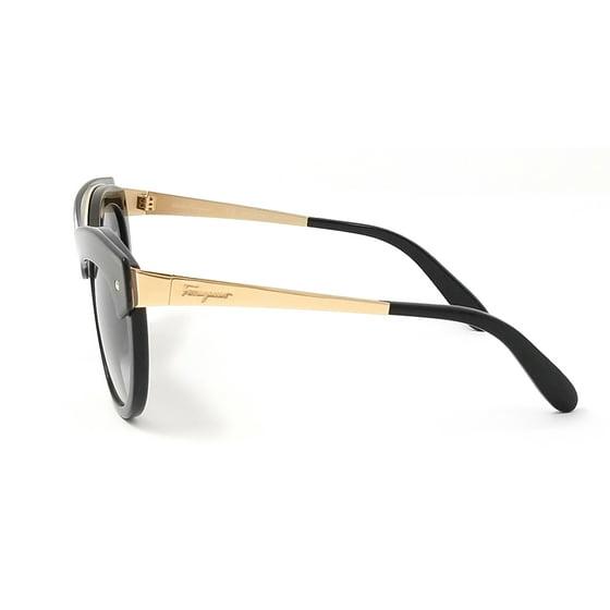 1e40ebb617 Salvatore Ferragamo - Salvatore Ferragamo Sunglasses SF774S 020 BLACK  GRADIENT Round 52x21x135 - Walmart.com