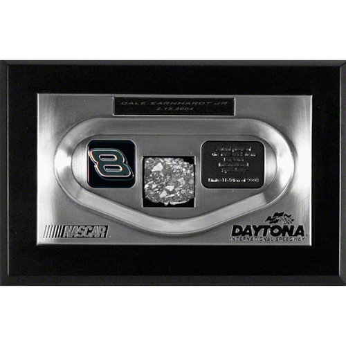 Dale Earnhardt Jr. 2004 Daytona 500 Winner Daytona Zinc Replica Showpiece with Piece of Track