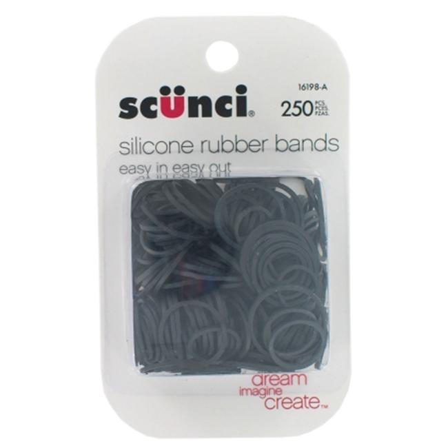 Scunci Small Black Rubberbands, 250 pk