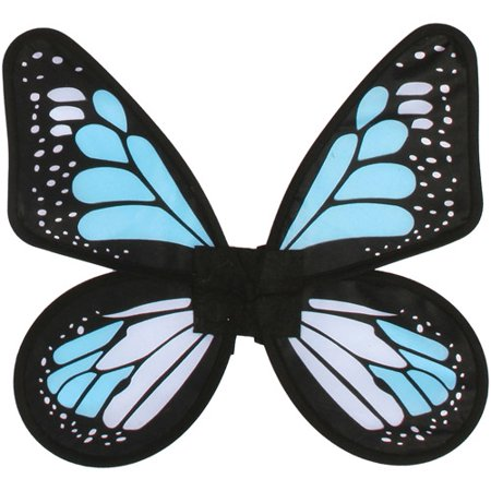 Satin Butterfly Wings Adult Halloween Accessory - Butterfly With Angel Wings