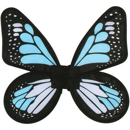 Satin Butterfly Wings Adult Halloween Accessory - Monarch Butterfly Halloween Makeup