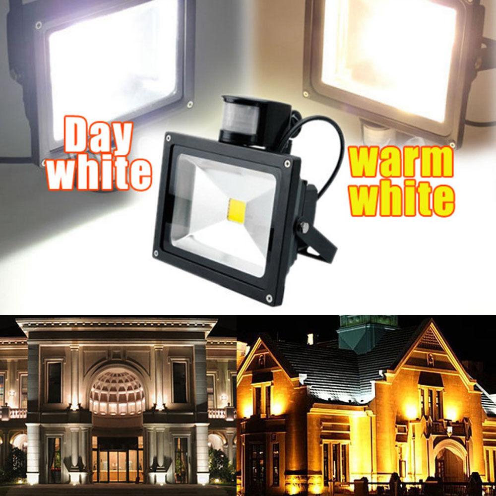 Ktaxon 10w 20w 30w Led Flood Light Pir Motion Sensor Outdoor Garden Security With Spotlight