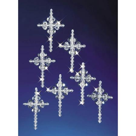 The Beadery Christmas Ornament Craft Kits - Cross - Christmas Craft Kits