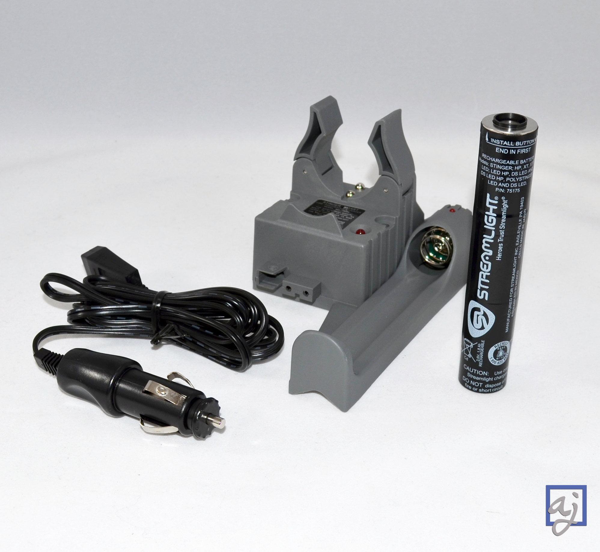 Bundle: Streamlight Stinger PiggyBack Smart Charger w/Bat...