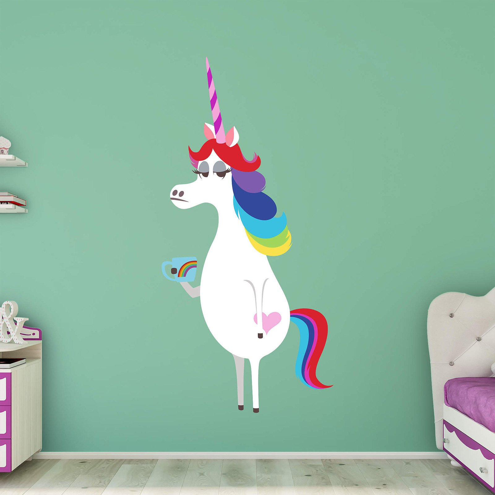 Fathead Inside Out Rainbow Unicorn Wall Decal   Walmart.com