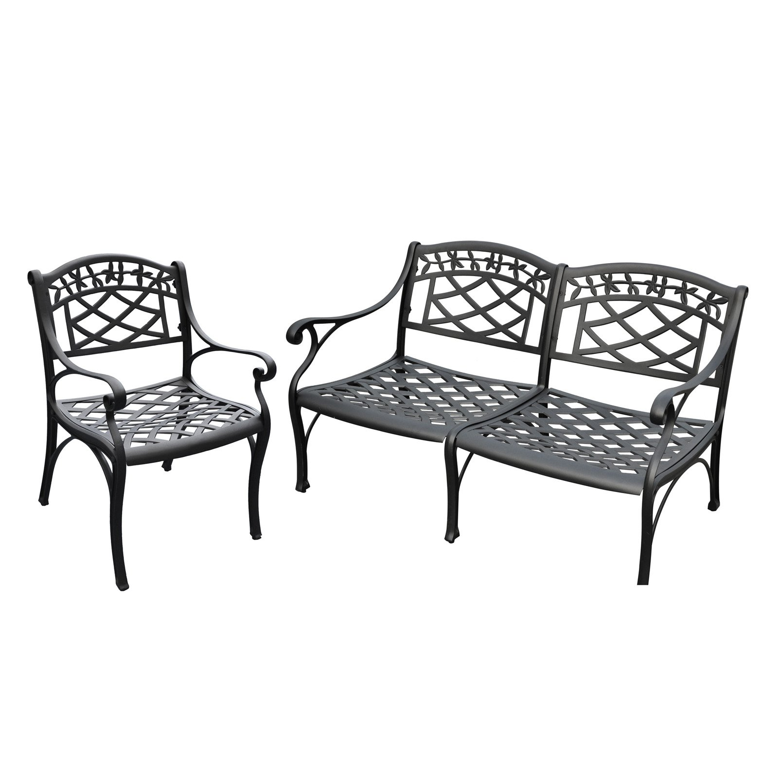 Crosley Furniture Sedona 2-Piece Cast Aluminum Outdoor Conversation Seating Set