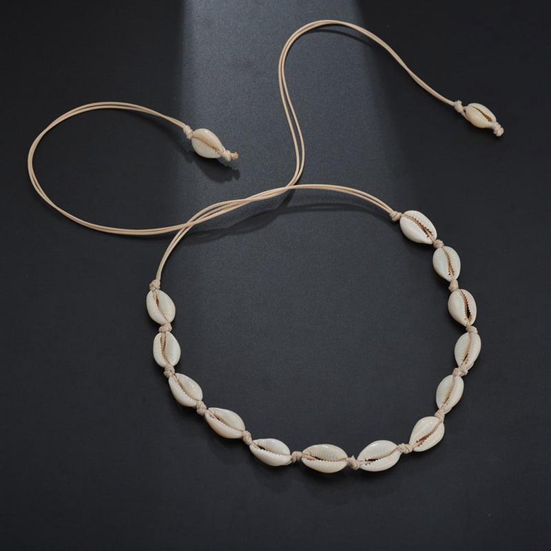 Stylish Beach Bohemian Sea Shell Pendant Chain Choker Necklace Women/'s JewelRKUS