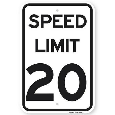 20 Mph Speed Limit (SPEED LIMIT 20 MPH Sign 12