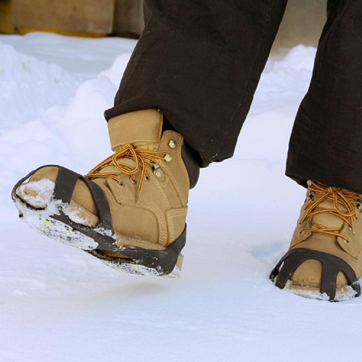 Attachable Anti-Skid Ice-Traction Cleats (2-Pack)