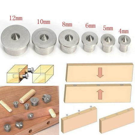 6PCS 4-12mmDowel Drill Centre Points Pin Wood 4mm 6mm 8mm 10mm 12mm Dowel Tenon Center Set - image 6 de 6