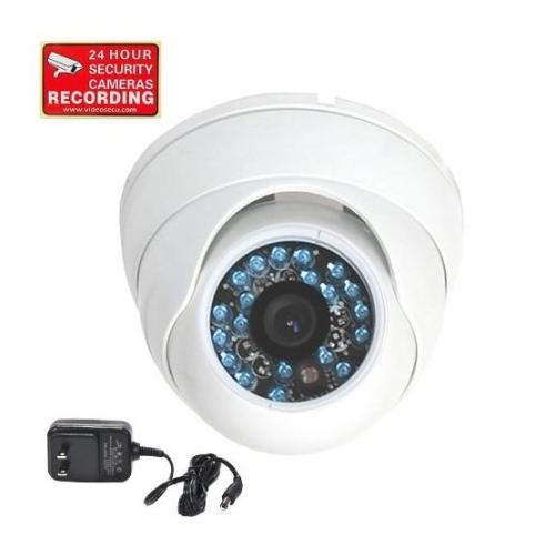 """VideoSecu Infrared Day Night Vision Outdoor Vandal-proof Security Camera Wide Angle Lens 1/3"""" CCD with Power Supply C9V"""