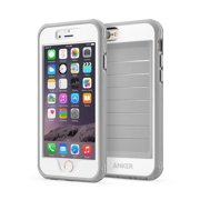 iPhone 6s Case, Anker Ultra Protective Case With Built-in Clear Screen Protector for iPhone 6 / iPhone 6s (4.7 inch) Drop-Tested, Dust Proof Design (Gray/White)