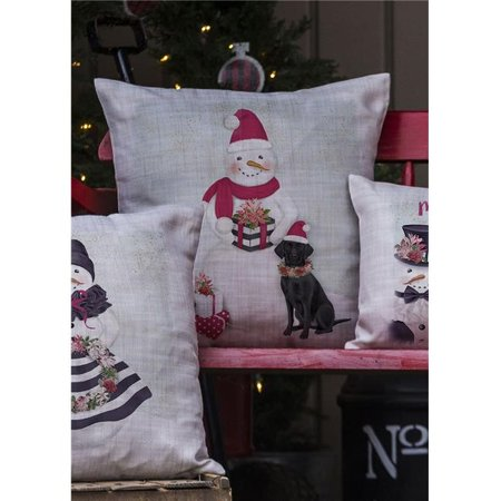 Heritage Lace SP-PC3 18 x 18 in. Snow People Snowman Pillow Cover, - Heritage Lace Snow