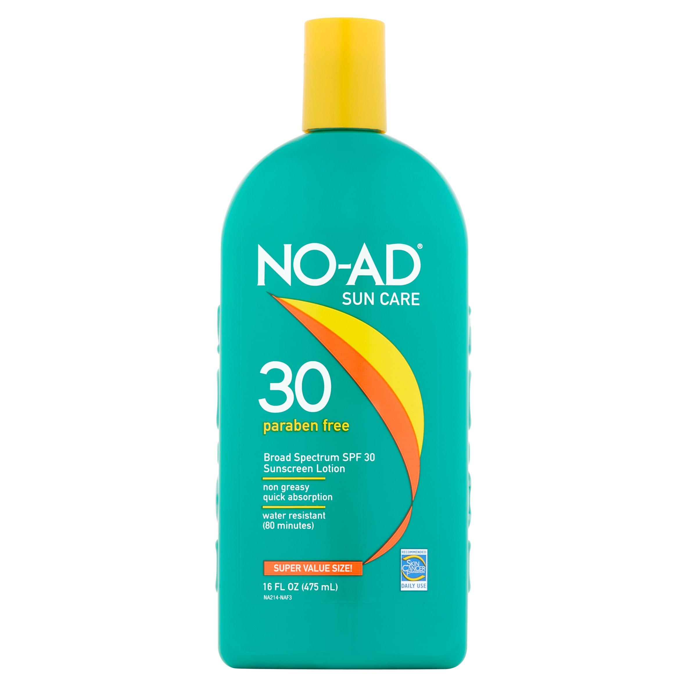 No-Ad Sunblock Lotion SPF 30, 16 Fl Oz