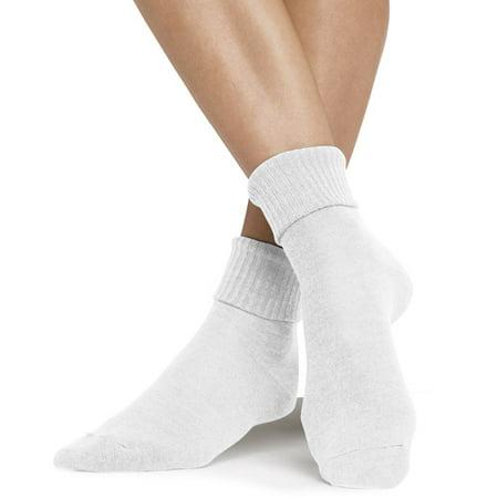 Womens ComfortSoft Cuff Socks