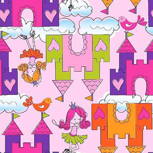 Springs Creative Ruby's Castle in the Sky Fabric by the Yard, Ballet Slipper