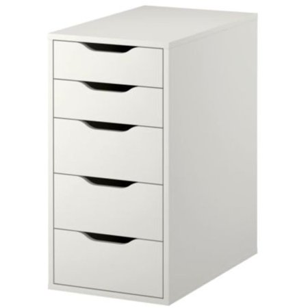 Ikea ALEX Drawer Unit, White, 14 1/8