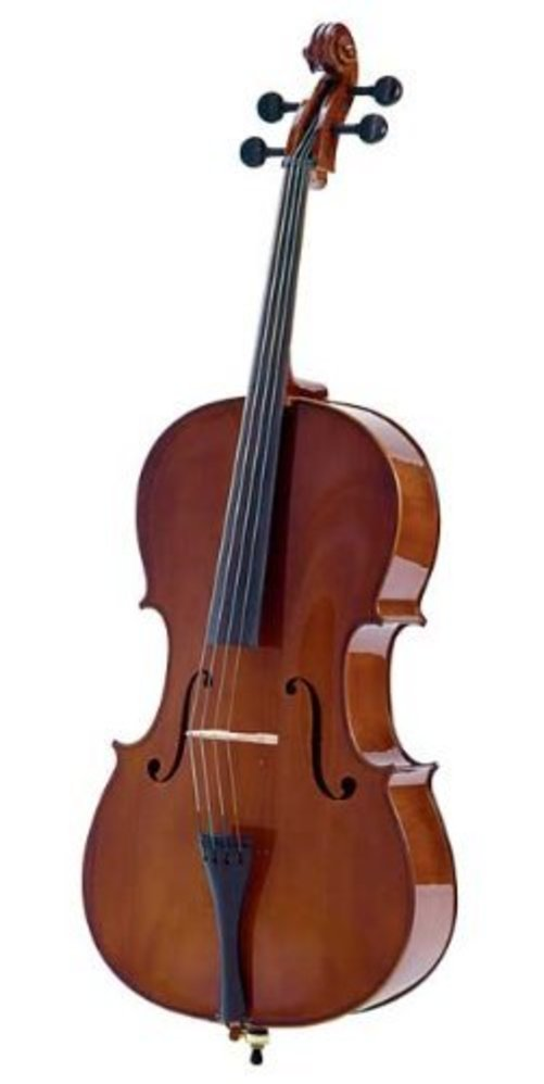 Palatino VC-450 Allegro Cello Outfit with Carrying Bag, 4 4 Size Multi-Colored by Palatino