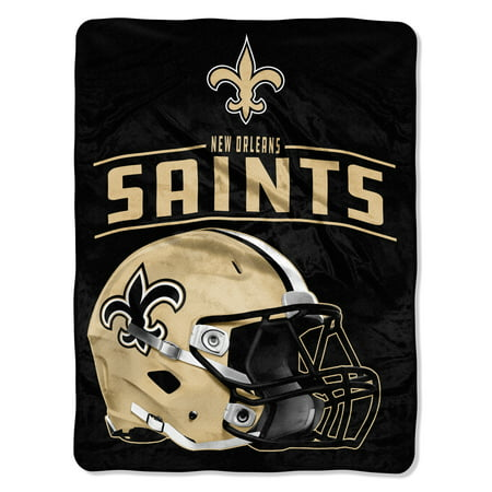 "NFL New Orleans Saints ""Franchise"" Micro Raschel Throw, 46"" X 60"""