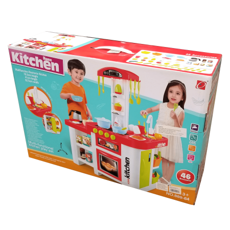 PNE Toys - Home Kitchen 46pc Multi-Functional Battery Operated Water Outlet Playset 3+ Up