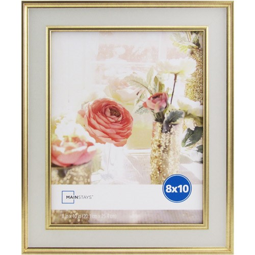 Mainstays Kristoff 8x10 White Gold Picture Frame