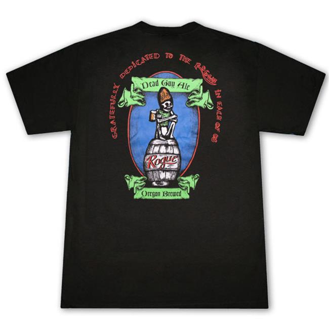 Rogue Ales 17641XL Dead Guy Black Graphic T-Shirt, Extra Large