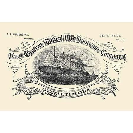 Great Eastern Mutual Life Insurance Company Of Baltimore Fine Art Canvas Print  Walmart Com