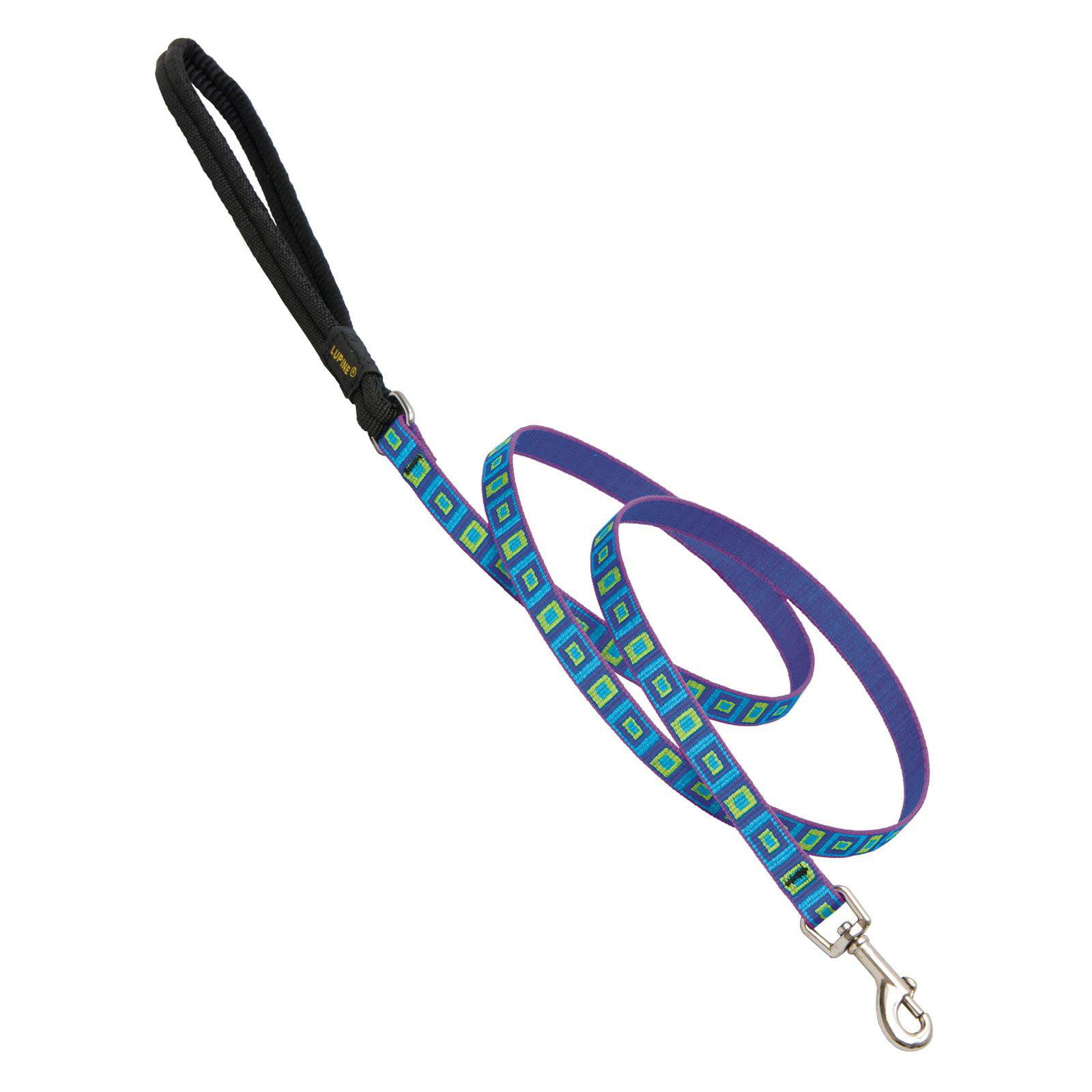 "Lupine Collars and Leads 73238 1/2"" x 4' Sea Glass Design Dog Lead"