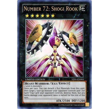Limits Rare Card - Yugioh Number 72: Shogi Rook (YZ05-EN001) - Shonen Jump Magazine Promo Card- Limited Edition - Ultra Rare by Yu-Gi-Oh!