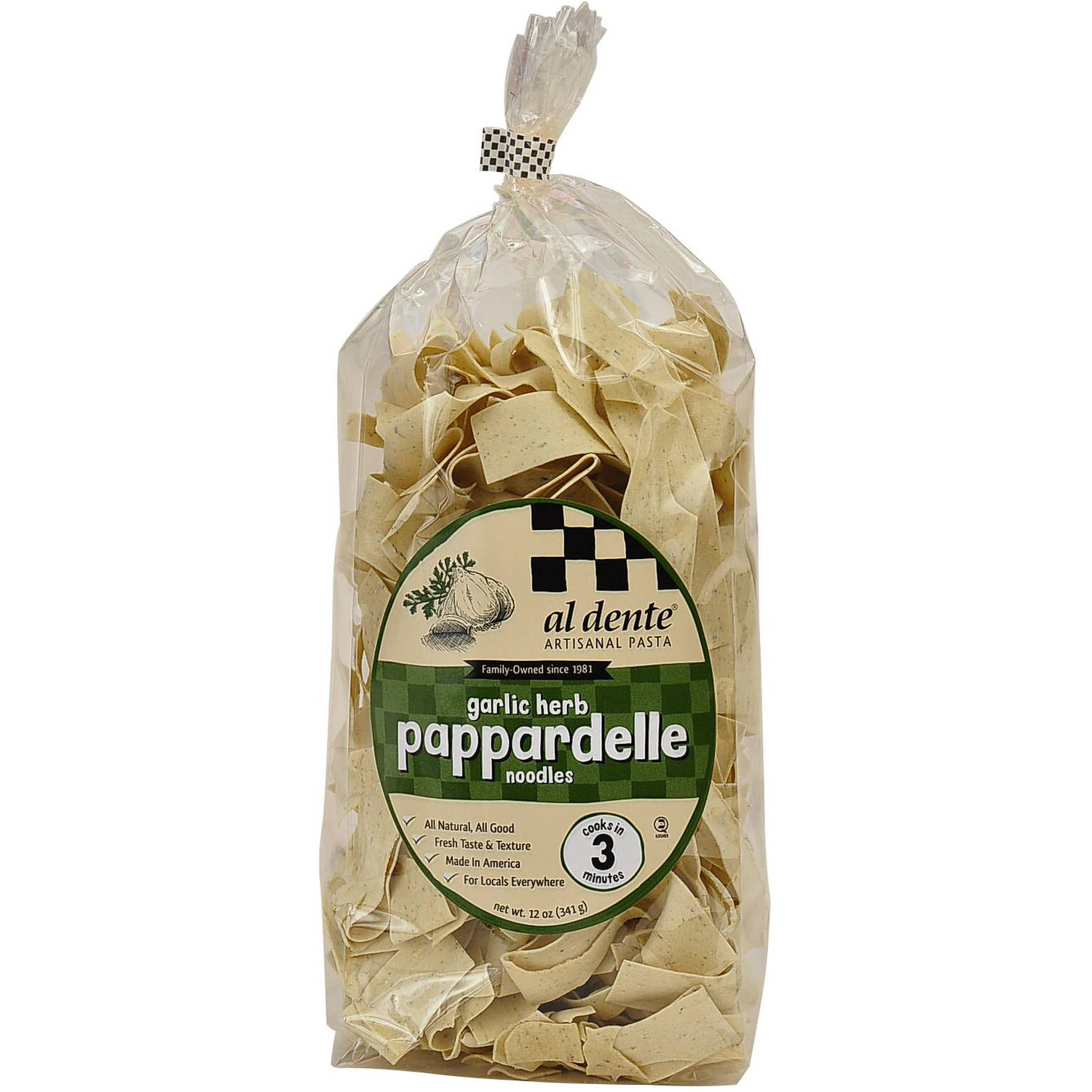Al Dente Pasta Garlic Herb Pappardelle Noodles, 12 oz (Pack of 6) by Generic