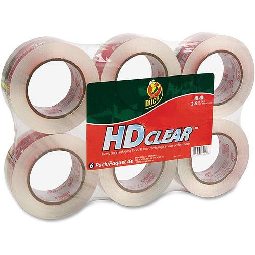 Duck Brand Heavy-Duty Crystal Clear Packaging Tape