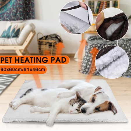 Pet Mat Sleeping Bed Pad Self Heating Soft Warm Large Dog Cat Bed Rug Thermal Washable Cushion Blanket Pillow covid 19 (Large Pet Pad coronavirus)
