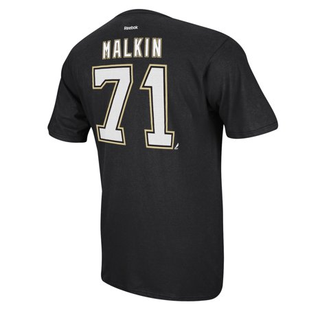 Pittsburgh Penguins Evgeni Malkin Reebok NHL Player T Shirt Men (Reebok Pittsburgh Penguins T-shirt)