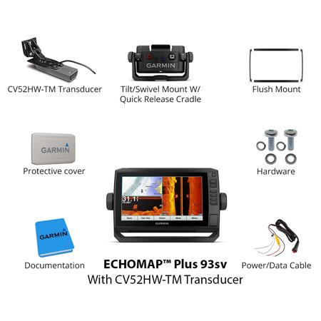 Garmin echoMAP CHIRP Plus 93sv 010-01901-01 w/ Transducer