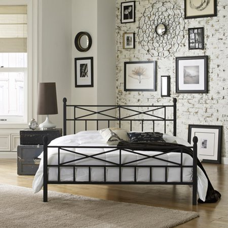 premier christel metal platform bed frame queen with bonus base wooden slat system - Platform Bed Frames Queen