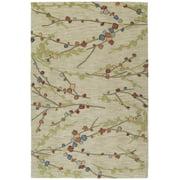 Kaleen 6407-42-23 Inspire Collection Handmade Area Rug, 2' x 3', Linen
