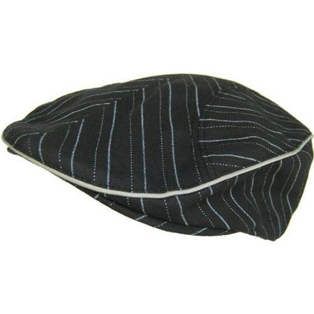 Cappello Pinstripe Ivy Scally Cap (Black, L/XL)