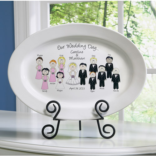 Personalized Wedding Character Plate