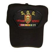 STUDIES AND OBSERVATIONS GROUP SOG VIETNAM VETERAN HAT CAP MACV CAMPAIGN RIBBONS
