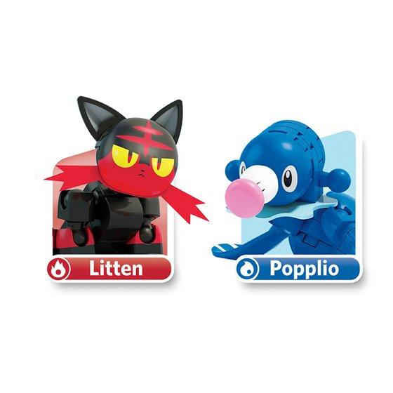Mega Construx Pokemon Popplio Vs Litten Building Set NEW IN STOCK