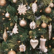 5aeb845e7 Best Choice Products Set of 72 Handcrafted Assorted Shatterproof Hanging  Christmas Ornaments Decoration w/ Embossed