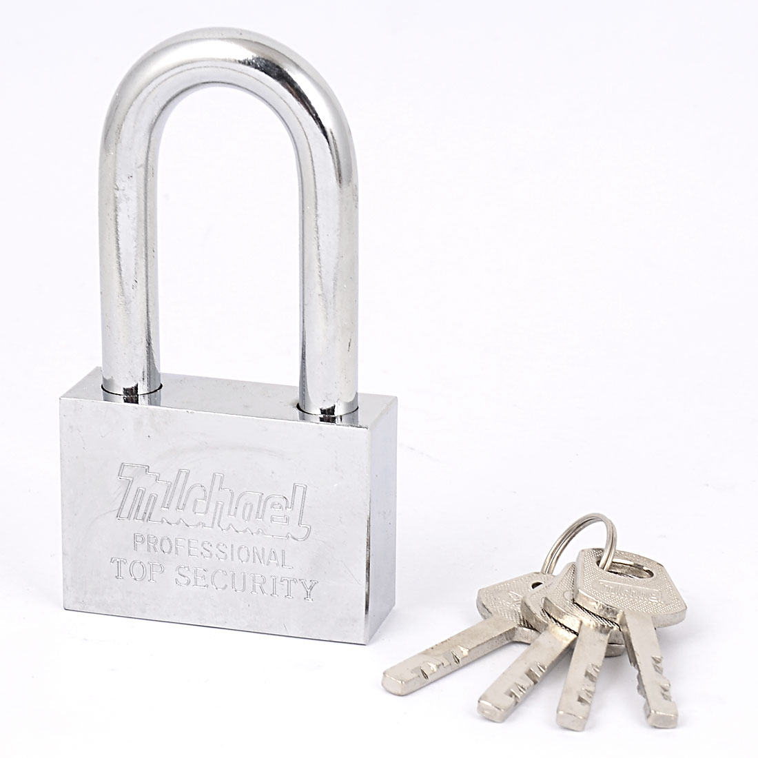 60mmx42mm Chain Gate Cabinet Door Locking Security Shackle Padlock Lock w 4 Keys