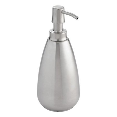 Pump Dispenser Top (InterDesign Nogu Stainless Steel Soap & Lotion Dispenser Pump, for Kitchen or Bathroom Countertops,)