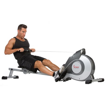 Sunny Health   Fitness Sf Rw5515 Magnetic Rowing Machine Rower W  Lcd Monitor