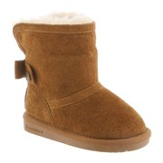 Bearpaw Girl's Harper Toddler Snow Boots Brown Suede 12 Little Kid M