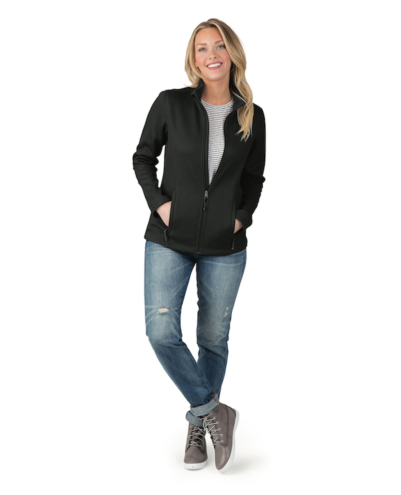 Charles River Apparel Womens Heritage Rib Knit Full Zip Jacket